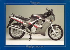1991 Triumph Catalogo Trophy 900 e 1200