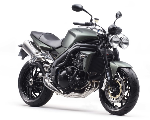 2010 Triumph Speed Triple Matt Khaki Green