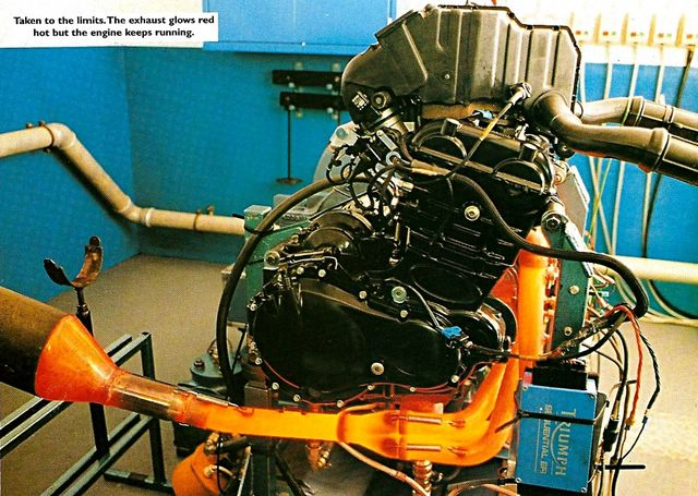 1996 - T595 engine in test
