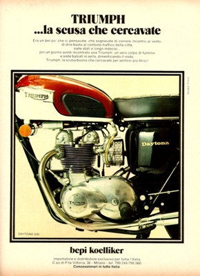 Pubblicità Advertising Triumph Motorcycles