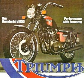 Pubblicit� Advertising Triumph Motorcycles