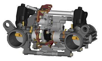 2009 Triumph Thunderbird Twin 3D CAD drawing