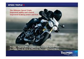 2012 Triumph Speed Triple R Lancio Stampa Press
