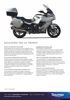 2012 Triumph Trophy 1200 Specifiche Tecniche