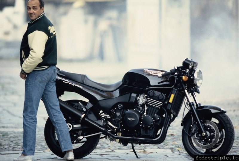 1994 Carlo Talamo con la Speed Triple
